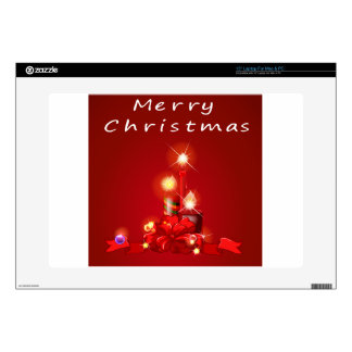 """Christmas and candles skins for 15"""" laptops"""