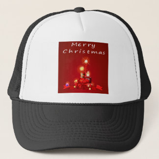 Christmas and candles trucker hat