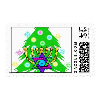 Christmas and Chanukkah Postage