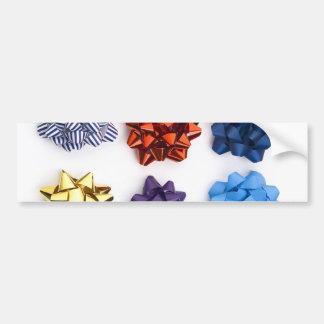 Christmas and Decorative Bows Bumper Sticker