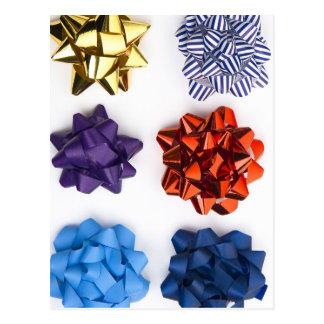 Christmas and Decorative Bows Postcard