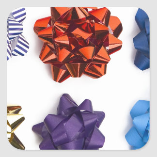 Christmas and Decorative Bows Square Sticker