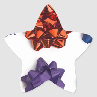 Christmas and Decorative Bows Star Sticker