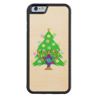 Christmas and Hanukkah Carved® Maple iPhone 6 Bumper Case