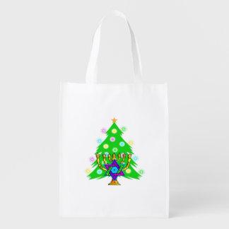 Christmas and Hanukkah Grocery Bag