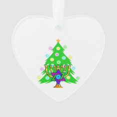 Christmas And Hanukkah Interfaith Ornament at Zazzle