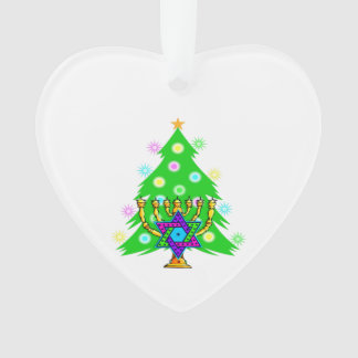 Christmas and Hanukkah Interfaith Ornament