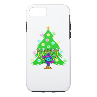 Christmas and Hanukkah iPhone 7 Case
