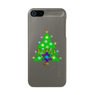 Christmas and Hanukkah Metallic Phone Case For iPhone SE/5/5s