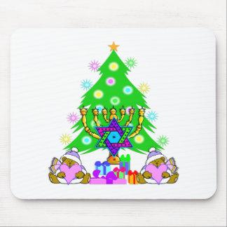 Christmas and Hanukkah Mousepad