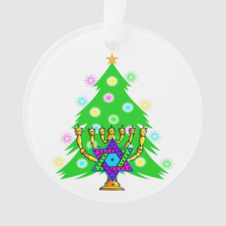 Christmas and Hanukkah Ornament