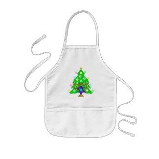 Christmas and Hanukkah Together apron