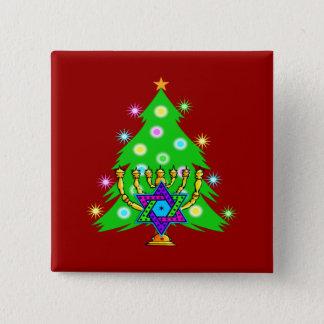 Christmas and Hanukkah Together Button