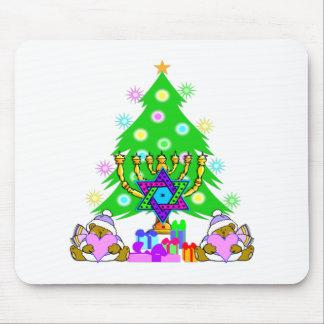 Christmas and Hanukkah Together Mouse Pad