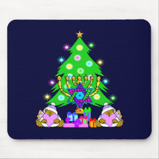 Christmas and Hanukkah Together Mouse Pads