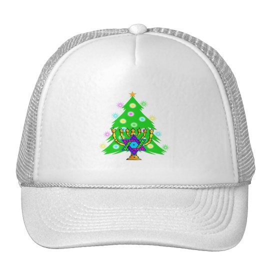 Christmas and Hanukkah Together Trucker Hat