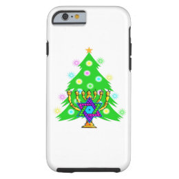 Christmas and Hanukkah Tough iPhone 6 Case