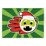 Hand shaped Christmas and Holiday Vampire Santa Card
