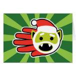 Christmas and Holiday Vampire Santa Greeting Card
