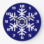 Christmas and Seasonal Home Decor White Snowflake Clock
