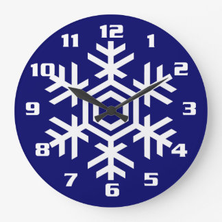 Christmas and Seasonal Home Decor White Snowflake Large Clock