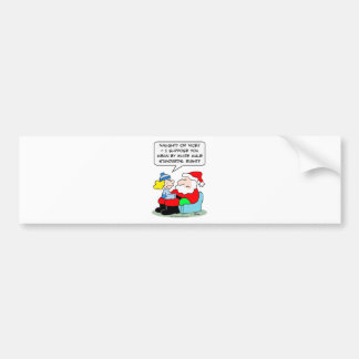 Christmas and white male standards car bumper sticker
