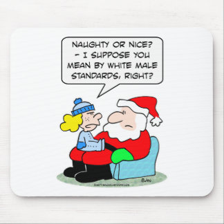 Christmas and white male standards mouse pad