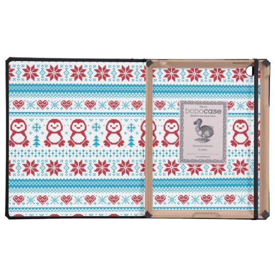 Christmas and Winter knitted pattern iPad Folio Case