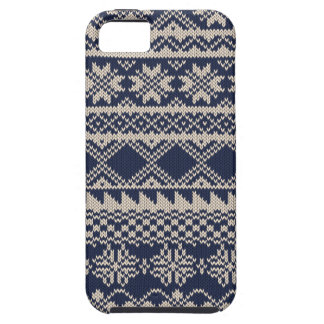 Christmas and Winter knitted pattern iPhone SE/5/5s Case