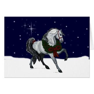 Christmas Andalusian Horse Greeting Card