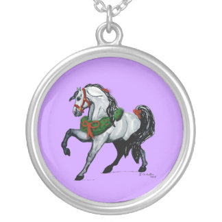 Christmas Andalusian Horse Necklace