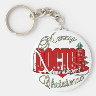 CHRISTMAS ANESTHESIOLOGIST KEYCHAIN