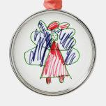 Christmas Angel 1 Round Metal Christmas Ornament