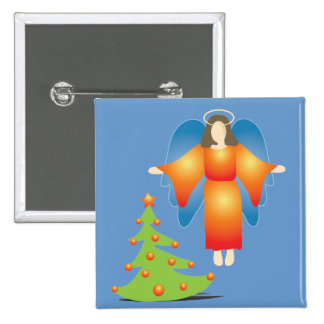 Christmas Angel 2 Inch Square Button