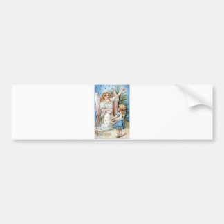 Christmas Angel and Child Bumper Sticker
