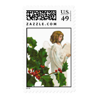 Christmas Angel and Holly Stamps