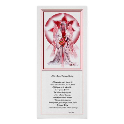 Christmas Angel and Poetry Poster