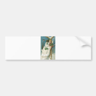 Christmas Angel and Snowman Bumper Sticker