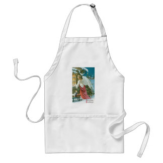 Christmas Angel at the Window Adult Apron