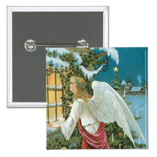 Christmas Angel at the Window Button