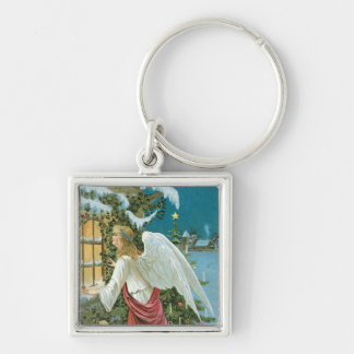 Christmas Angel at the Window Key Chain