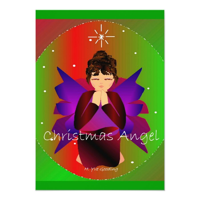 Christmas Angel Baby Girl Praying Card