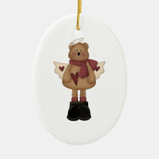 christmas angel bear ornament