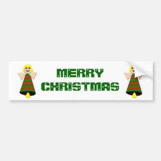 Christmas Angel Bell Custom Bumper Sticker