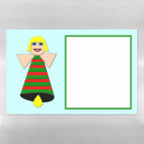 Christmas Angel Bell Magnetic Dry Erase Sheet