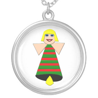 Christmas Angel Bell Necklace