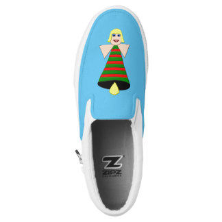 Christmas Angel Bell Slip On Shoes