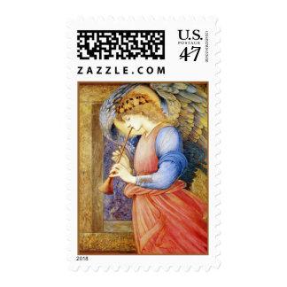 Christmas Angel Burne-Jones Postage Stamp Medium