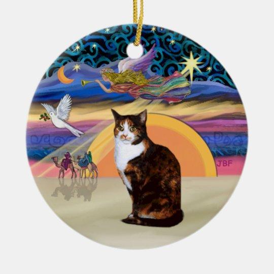 Christmas Angel - Calico cat  (Amer. Short Hair) Ceramic Ornament