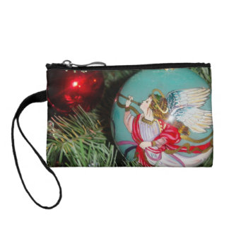 Christmas angel - christmas art -angel decorations coin wallet